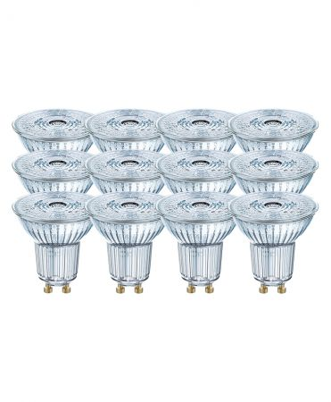3.6W = 50W 4000K 36° ND OSRAM LED Base GU10 Spot 12er Set Glas