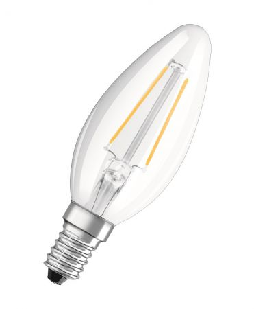 1.2W = 15W 2700K 360° ND OSRAM LED RETROFIT Filament B15 KLAR