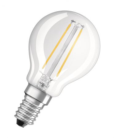1.2W = 15W 2700K 300° ND OSRAM LED RETROFIT Filament P15 KLAR