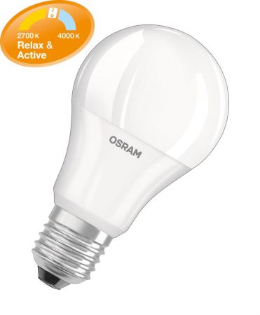 9,5W = 60W 4000K + 2700K 200° ND Osram Active & Relax A60
