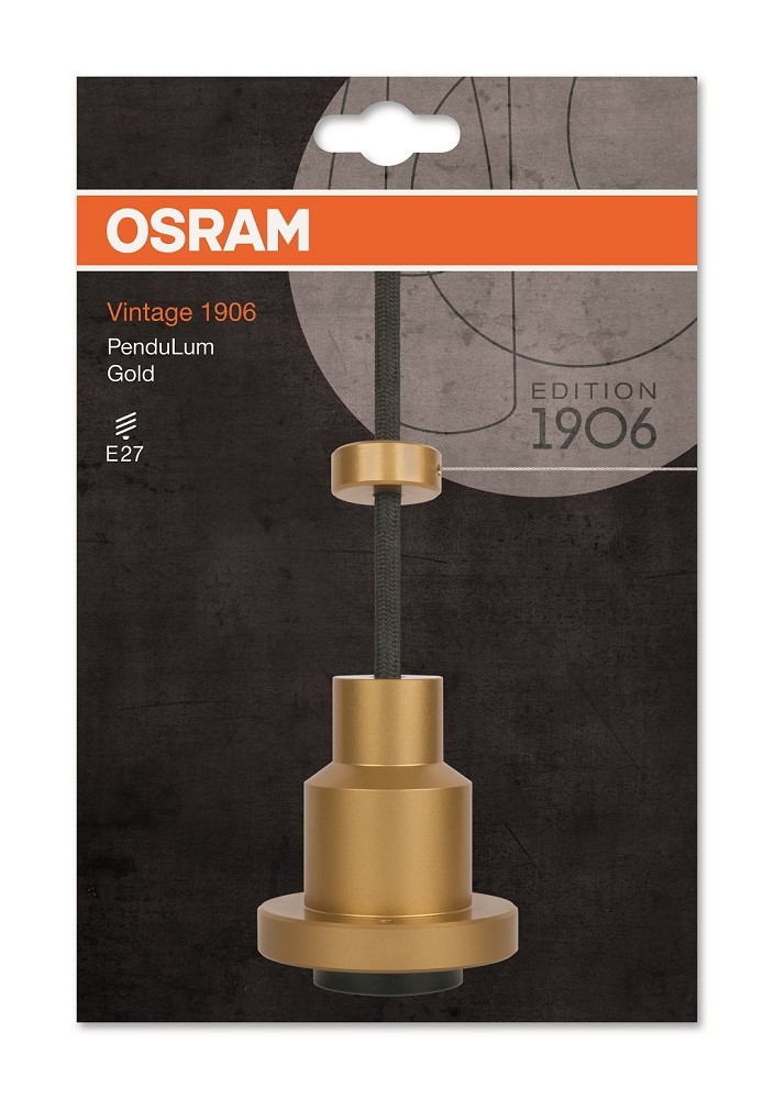 osram led vintage 1906 pendulum h ngeleuchte gold led lampen osram bioledex toshiba. Black Bedroom Furniture Sets. Home Design Ideas