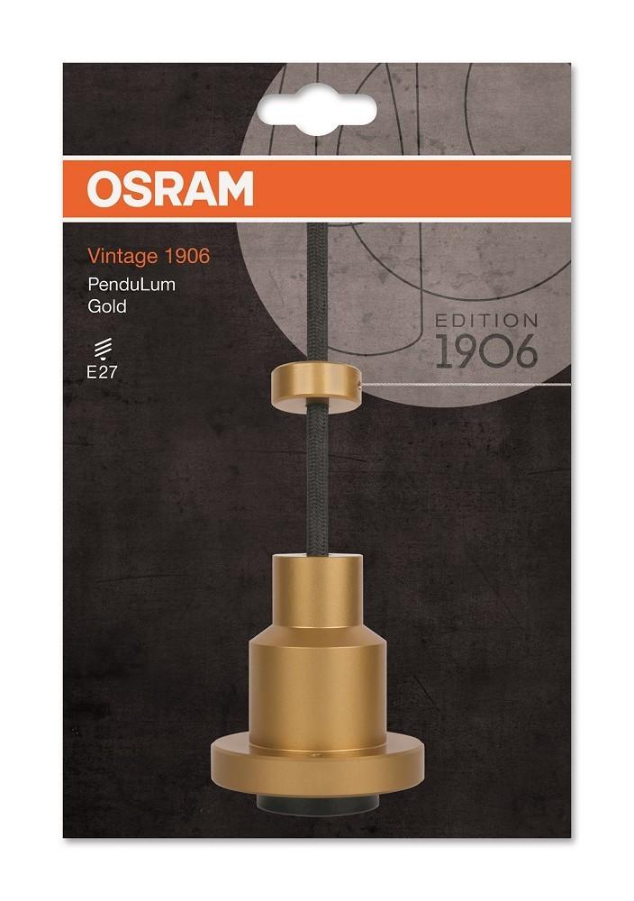 osram led vintage 1906 pendulum h ngeleuchte gold led. Black Bedroom Furniture Sets. Home Design Ideas